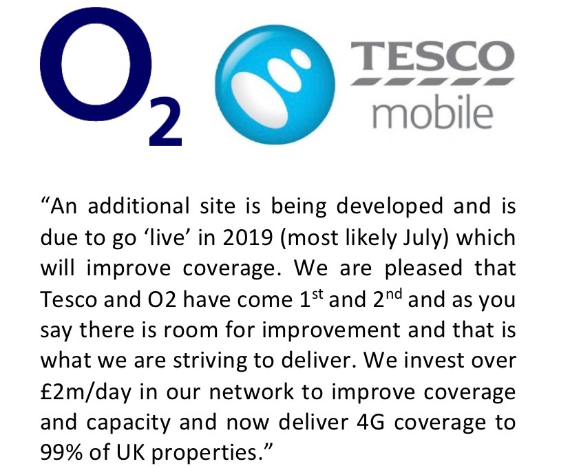 02 and Tesco Response
