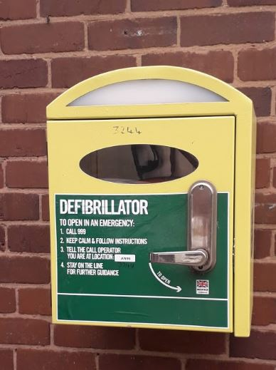 Close up of the defib