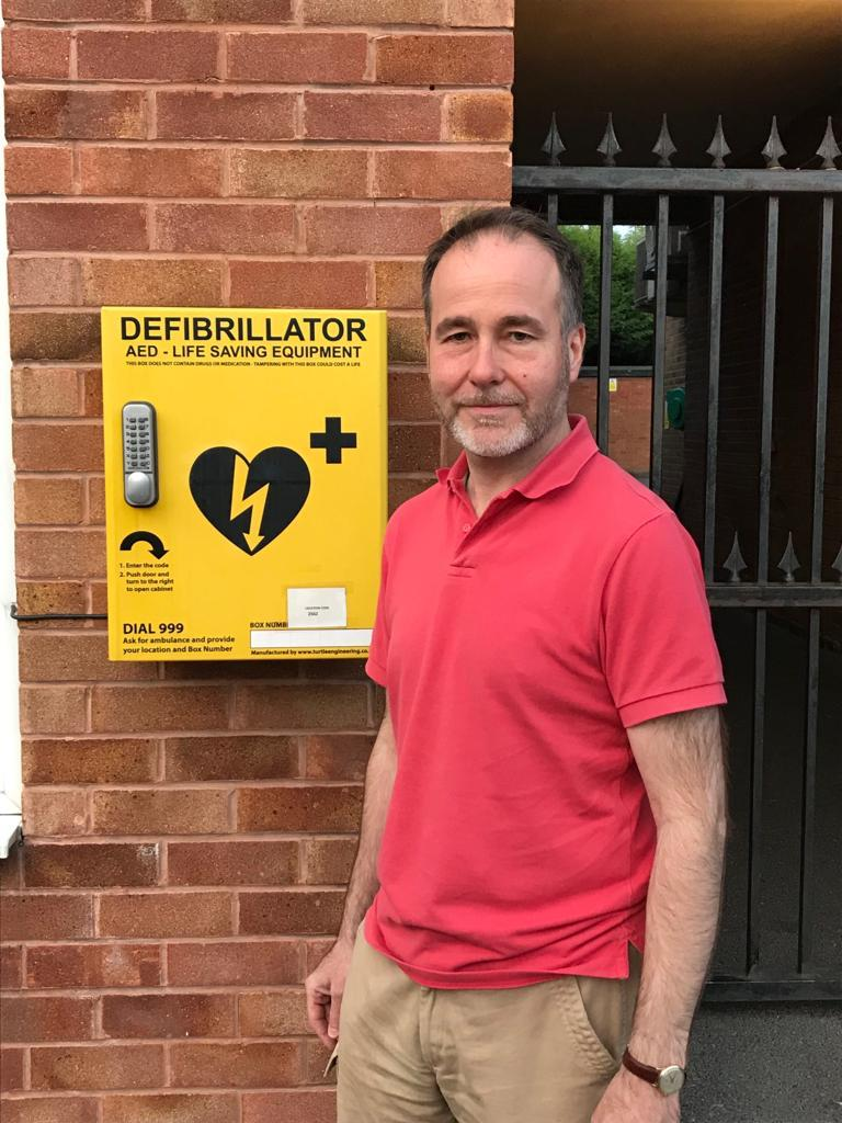 Shenstone defib at the Parish Council Offices