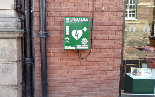 This defib is situated on Market Street, Tamworth
