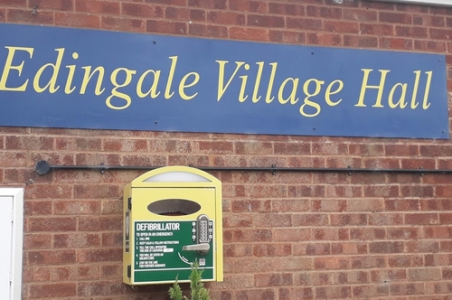 Defib at Edingale Village Hall
