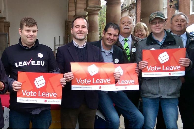 Chris Pincher MP Campaigning for Vote Leave in 2016