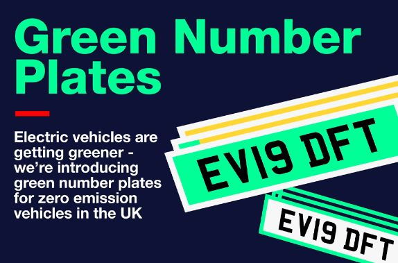 Do you want to see green plates for electric cars