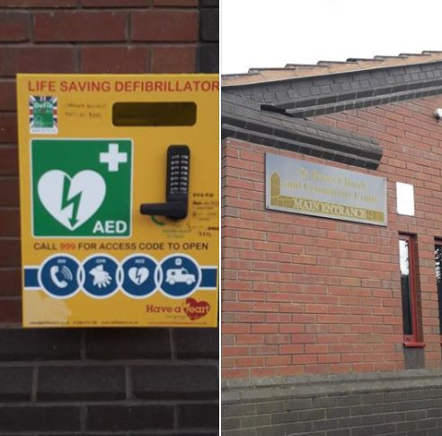 St Peter's Community Centre defib