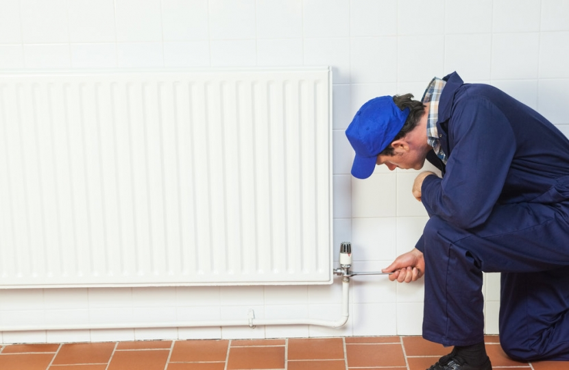 central heating support from the Council