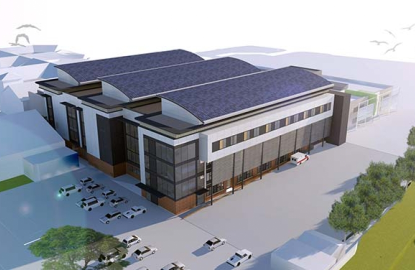 Artist impression of the new hospital build