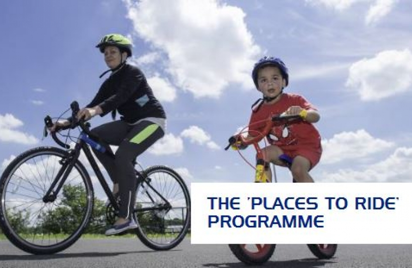 Places to ride funding for cycling