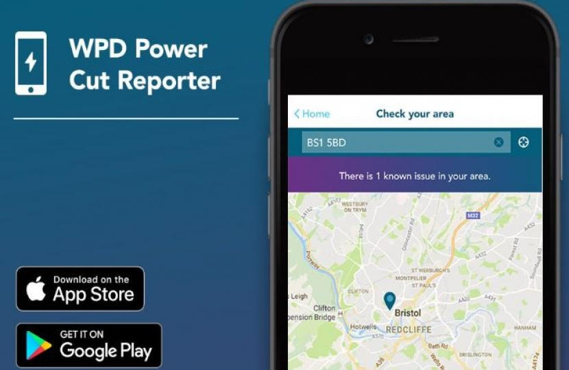 WPD - app for reporting and hearing about powercuts