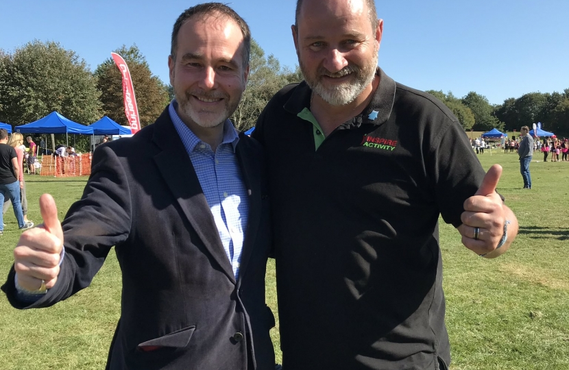 Meeting the organiser of Tamworth Community Games