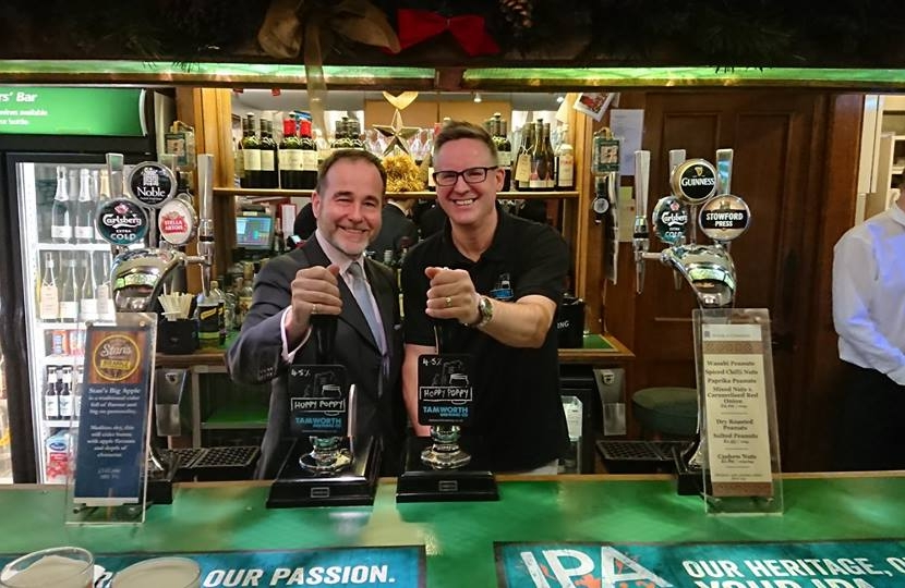 Tamworth brewed beer being sold in the Houses of Parliament