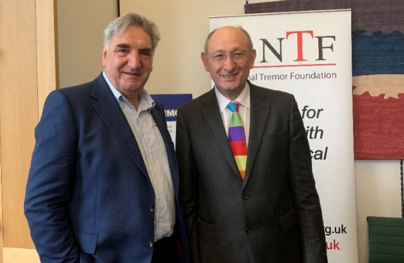Jim Carter (Mr Carson) and Professor Giedroyc who operates MR guided focues ultrasound treatment