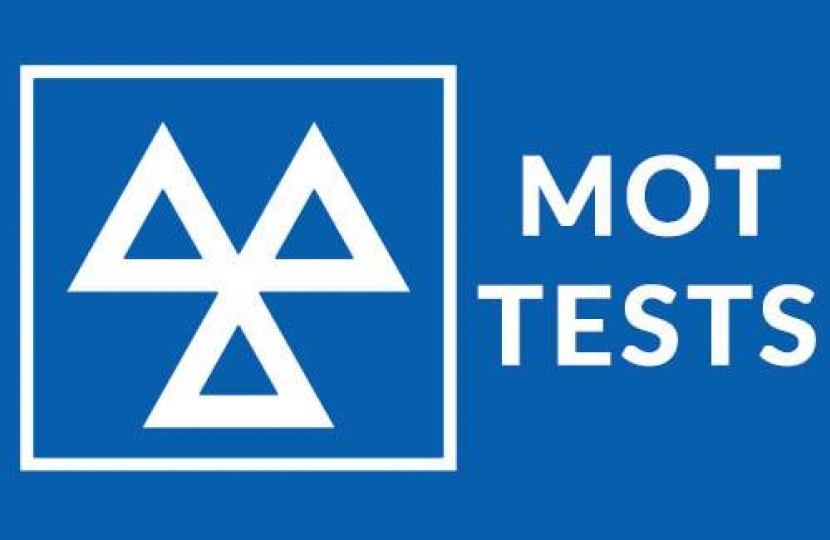 MOT tests exempt for 6 months