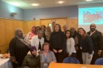 Minister Penny Mordaunt meeting activists and FGM midwives in a clinic