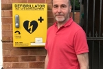 Chris Pincher by the Shenstone Defib