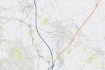 HS2 route in this area