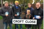Delivering and door knocking on Croft Close