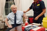 boris getting his flu jab